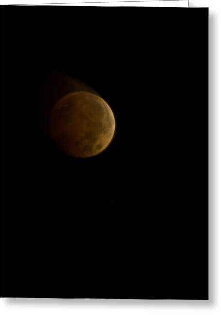 Lunar Blood Greeting Card by Michael Nowotny