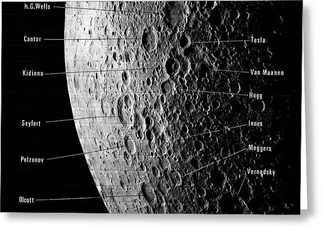 Lunar Craters Greeting Card by Emilio Segre Visual Archives/american Institute Of Physics