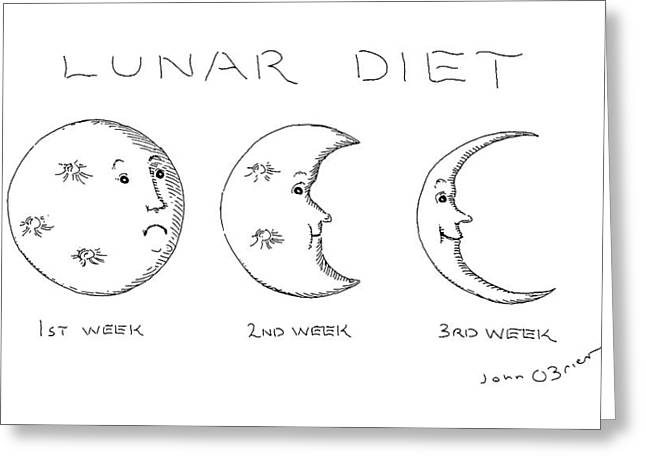 Lunar Diet Greeting Card by John O'Brien