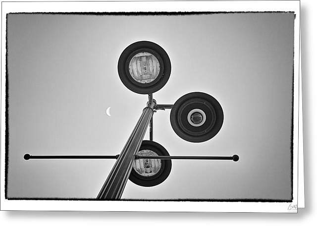 Lunar Lamp - Art Unexpected Greeting Card by Tom Mc Nemar