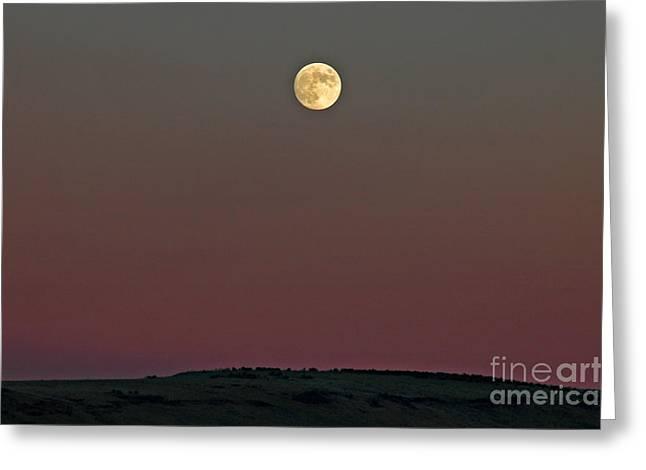 Lunar Over Indian Ridge Greeting Card by Nick  Boren