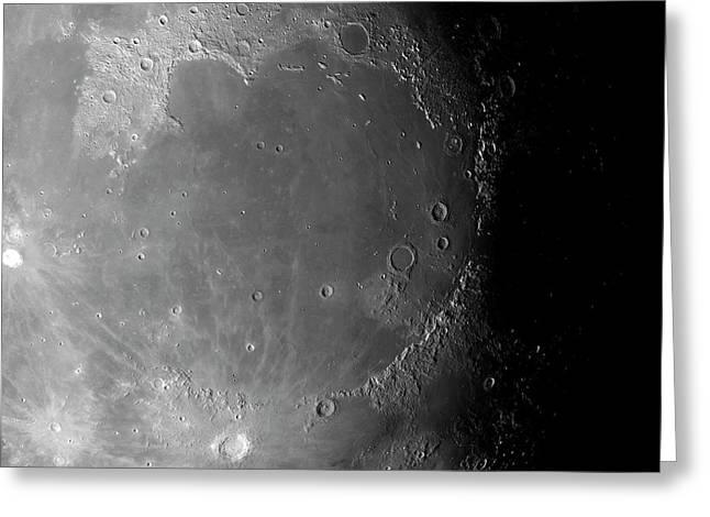 Lunar Surface Greeting Card by Detlev Van Ravenswaay