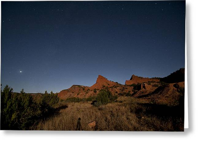 Lunascape Greeting Card by Melany Sarafis