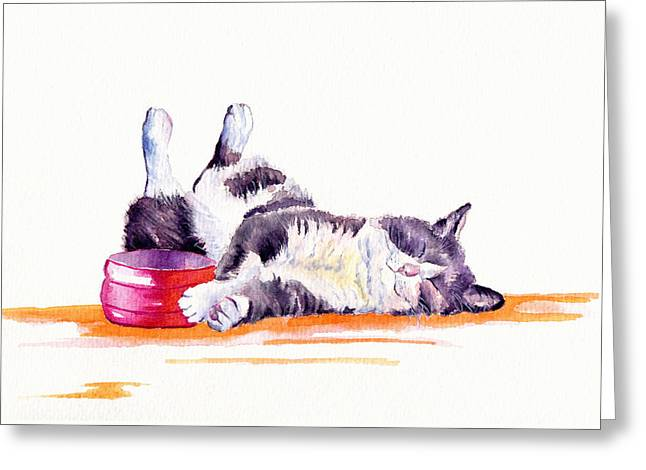 Lunch Break Greeting Card by Debra Hall
