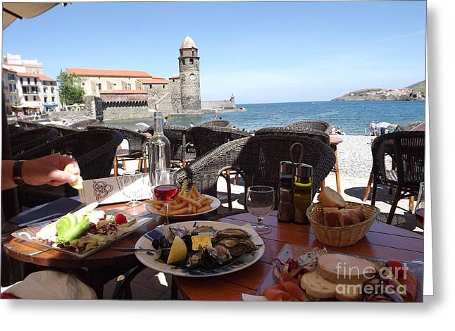 Mediterranean Lunch Greeting Card by France  Art