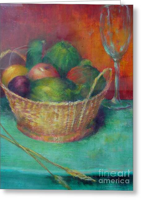 Lunch In Tuscany  Copyrighted Greeting Card by Kathleen Hoekstra