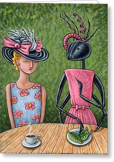 Lunch With A Favorite Ant Greeting Card by Holly Wood