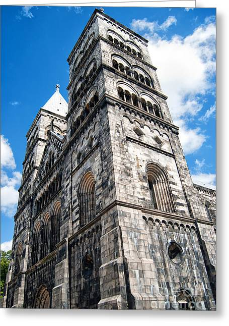 Lund Cathedral 02 Greeting Card by Antony McAulay