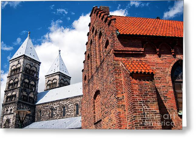 Lund Cathedral 03 Greeting Card by Antony McAulay
