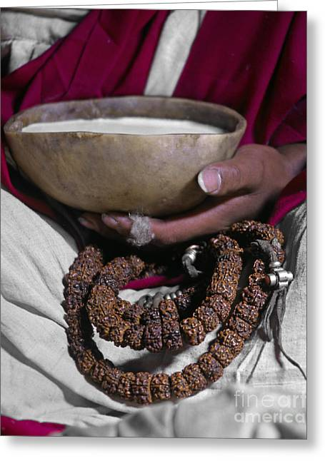 Lundup Dorje With Skull Cup - Tibet Greeting Card