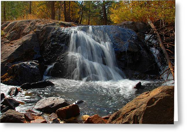 Greeting Card featuring the photograph Lundy Creek Cascades by Lynn Bauer