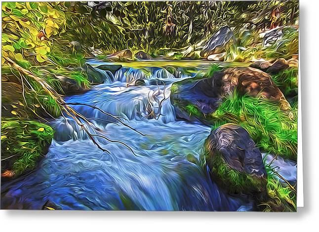Lundy Creek Flow Greeting Card