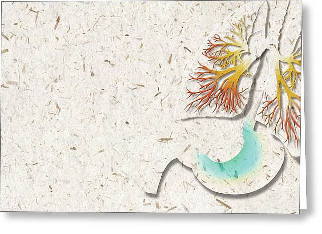 Lung Infection Greeting Card by Harvinder Singh