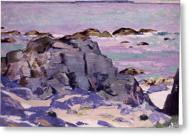 Lunga From Above Mermaids Greeting Card by Francis Campbell Boileau Cadell