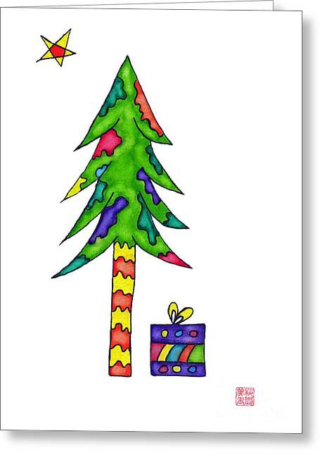 Lupita Christmas Tree Greeting Card