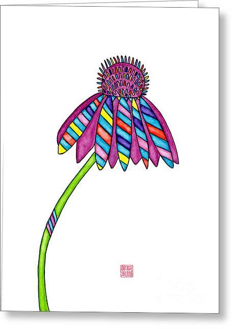 Lupita Cone Flower 1 Greeting Card