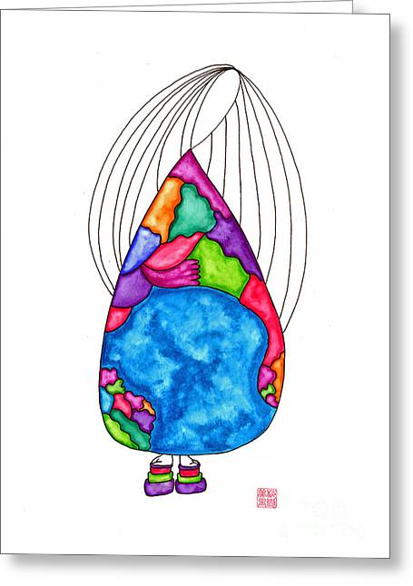 Lupita Dances Around The World 1 Greeting Card