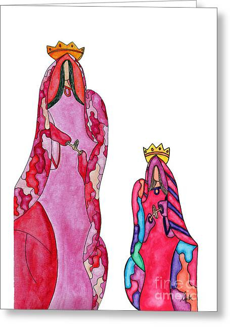 Lupita Queen And Princess Red 1 Greeting Card