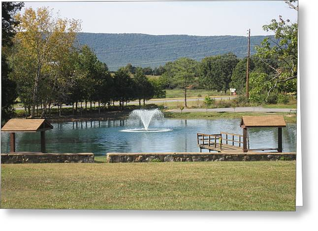 Luray Caverns Gardens - 121219 Greeting Card by DC Photographer