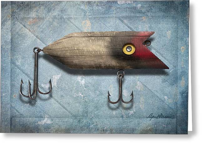 Lure II Greeting Card by April Moen