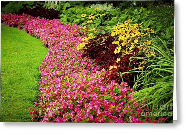 Lush Summer Garden Greeting Card by Elena Elisseeva