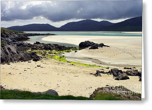 Greeting Card featuring the photograph Luskentyre Bay by Jacqi Elmslie