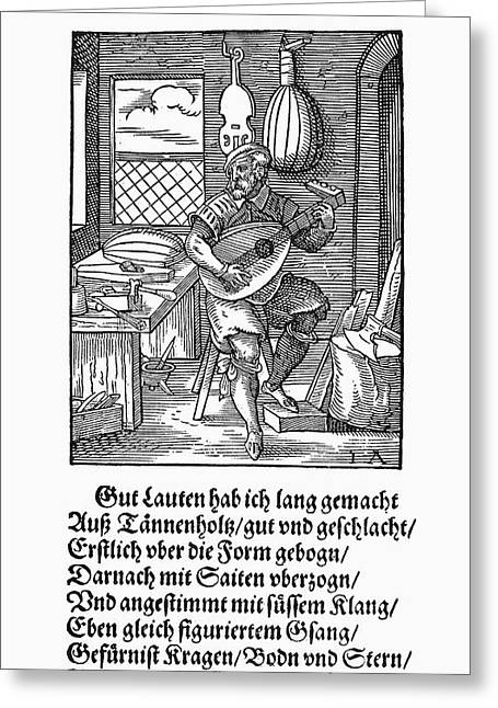 Lute Maker, 1568 Greeting Card by Granger