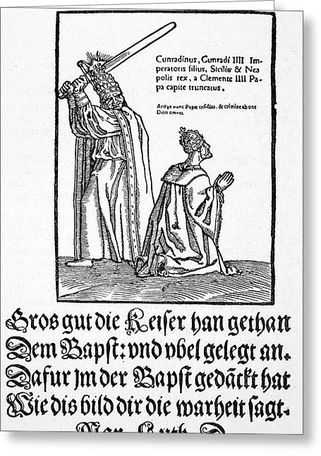 Luther Satire, 1545 Greeting Card by Granger