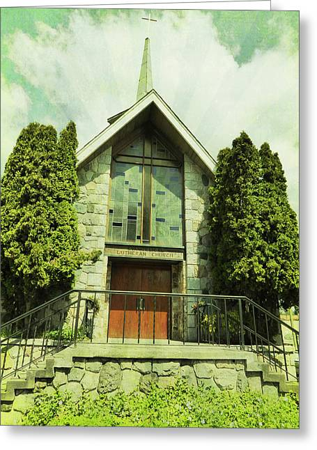 Greeting Card featuring the photograph Lutheran Church by Laurie Tsemak