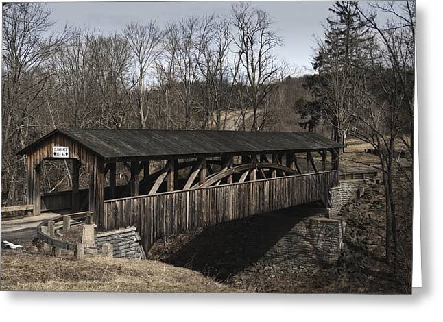 Luther's Mill Covered Bridge Greeting Card