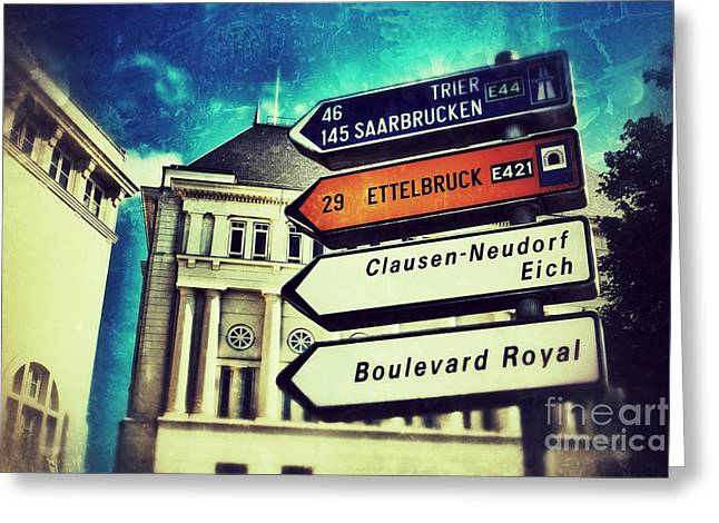 Luxembourg City Greeting Card