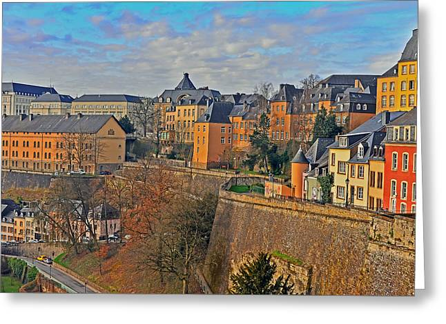 Luxembourg Fortification Greeting Card