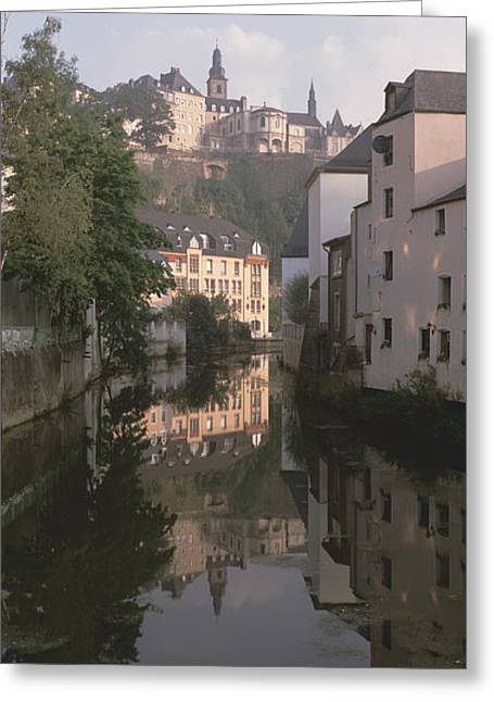 Luxembourg, Luxembourg City, Alzette Greeting Card by Panoramic Images