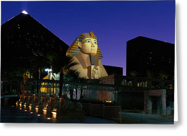 Luxor Hotel Las Vegas Nevada Usa Greeting Card by Panoramic Images
