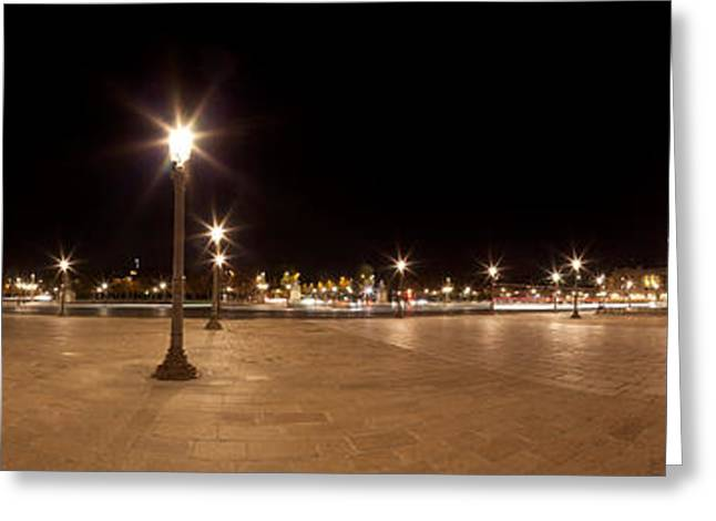 Luxor Obelisk At Night, Place De La Greeting Card by Panoramic Images