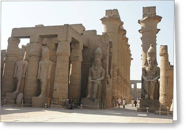 Luxor Temple Greeting Card