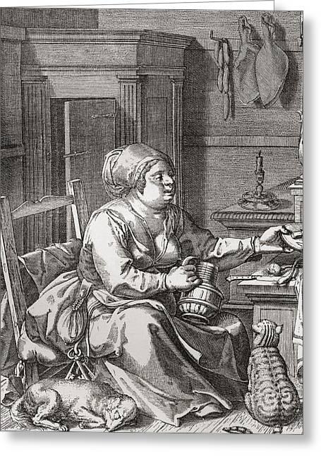 Luxuriance, After The Painting By Jodocus Van Winghe.  From Illustrierte Sittengeschichte Vom Greeting Card by Bridgeman Images