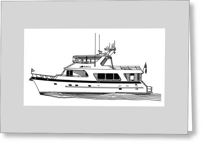Luxury Motoryacht Greeting Card by Jack Pumphrey
