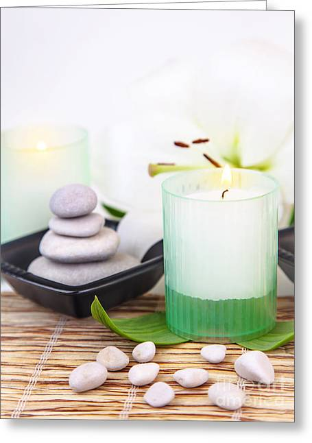 Luxury Spa Resort Greeting Card by Anna Om