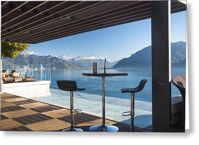 Luxury Swiss View Greeting Card