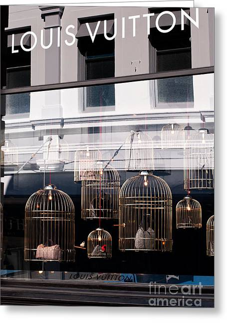 Lv Gilded Cage Bags Greeting Card by Rick Piper Photography
