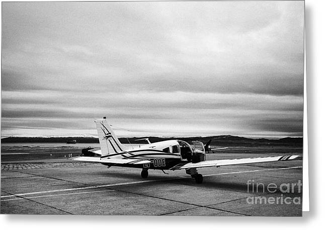 lv-ode piper pa-28 archer light aircraft aeroclub Ushuaia Argentina Greeting Card by Joe Fox