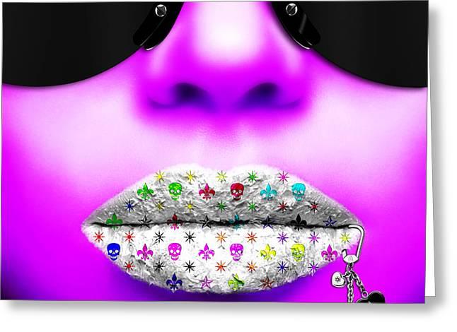 Kiss Me Purple Greeting Card