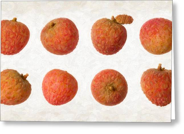 Lychee Greeting Card by Danny Smythe