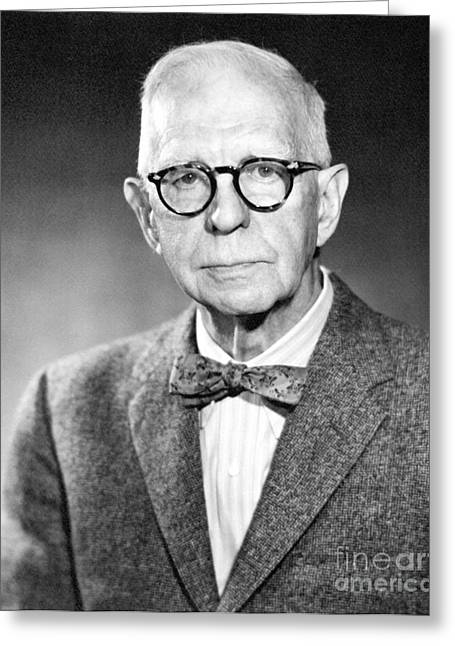 Lyman Briggs, Us Physicist Greeting Card by Emilio Segre Visual Archives/american Institute Of Physics