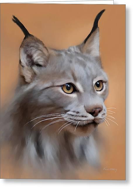 Lynx Portrait Greeting Card