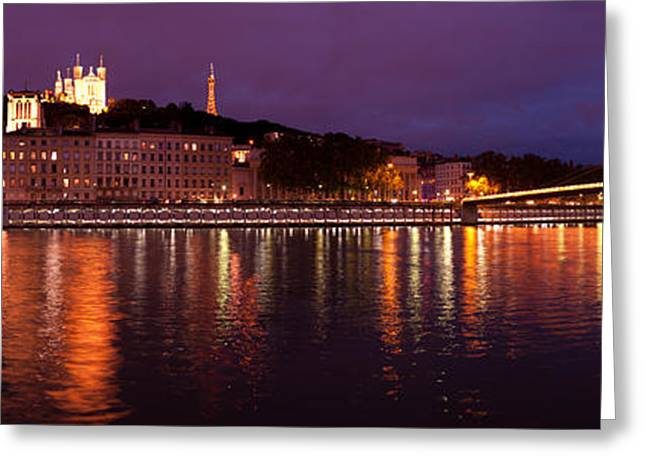 Lyon At Dusk Greeting Card