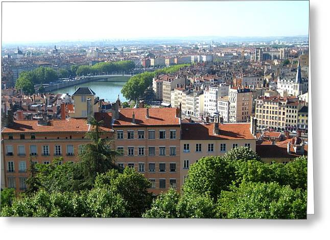 Greeting Card featuring the photograph Lyon From Above by Dany Lison