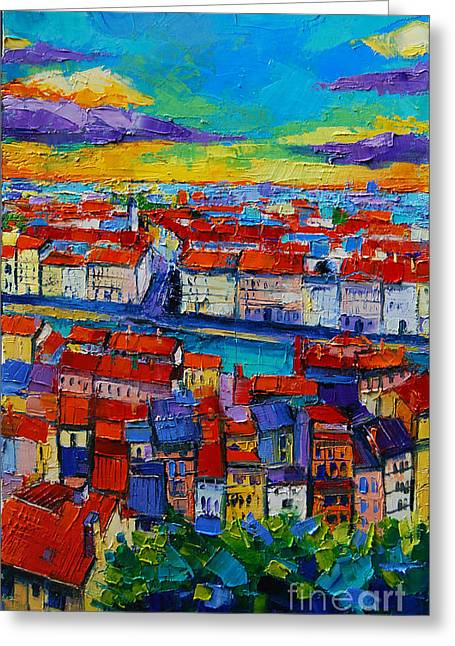 Lyon View 2 Greeting Card by Mona Edulesco