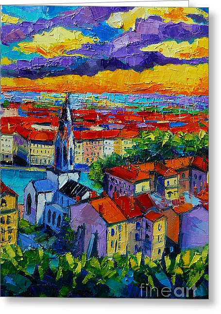 Lyon View 3 Greeting Card